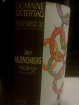 2009 Domaine Ostertag_Muenchberg_Riesling_Alsace Grand Cru