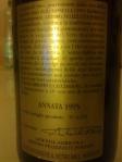 ArPePe_Valtellina Superiore_Sassella_Vigna Regina Riserva 1995_back label