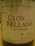 Clos Petite Bellane_Côtes du Rhône Villages_Valréas_les Échalas_2001_No0444