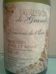 Domaine de l'Ecu_Muscadet Sevre et Maine sur lie_Expression de Granit_2004