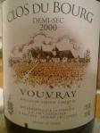 Domaine Huet_Vouvray_Clos du Bourg_demi-sec_2000