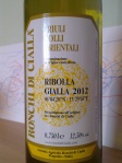 Ronchi di Cialla_Ribolla Gialla_2012