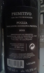 Frapa Grand Cru_Primitivo_2011_back